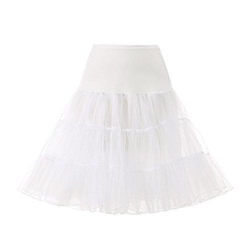 AW Women's 50s Rockabilly Ivory Petticoats for Women 25