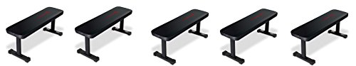 Marcy Flat Utility Weight Bench for Weight Training and Ab Exercises SB-315 (5-BENCHES) by Marcy