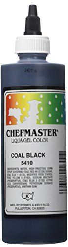 Chefmaster Liqua-Gel Food Color, 10.5-Ounce, Black by Chef-Master