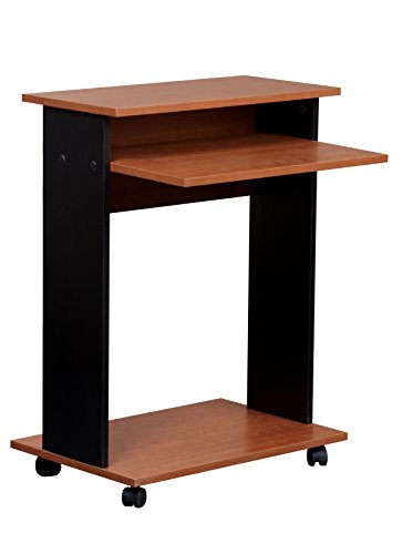 Mylex Mobile Computer Cart, 23.5 W x 19.8 D x 30.75 H Inches, Black and Cherry Finish, Assembly Required (43218)
