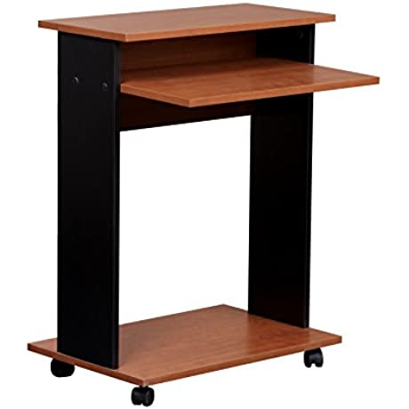 Mylex Mobile Computer Cart 23 5 W X 19 8 D X 30 75 H Inches Black And Cherry Finish Assembly Required 43218