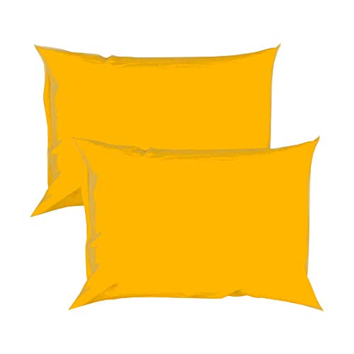 College Colors Pillowcases 100% Brushed Microfiber, Hypoallergenic Pillow Cover - Dorm Bedding Soft, Stain, Fade and Wrinkle Resistant (Standard 20x30 - 2 Pack, Yellow Gold)