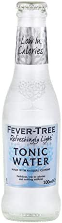 Fever-Tree Refreshingly Light Indian Tonic Water, 6.8 Fl Oz Glass Bottle (24 Count)