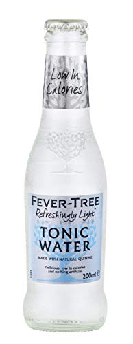 Fever-Tree Refreshingly Light Tonic Water, 6.8 Fl Oz Glass Bottle (24 Count) (Light Ein Os)
