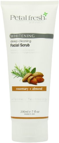 Bio Creative Lab Petal Fresh Botanicals Whitening and Facial Scrub, Rosemary and Almond, 7 Ounce Almond Petals