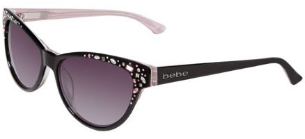 Bebe Sunglasses BB 7024 BLACK 001/BLACK ROSE - Sunglasses Bebe