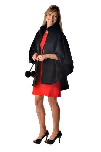 Women's Cashmere Cape with Fox Fur