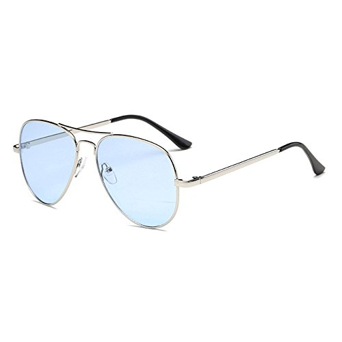 Frame Rouge femmes Boutique Shades soleil Lunettes Aviator Rose Bleu Rue Femme de Jaune Bleu Oculos Bleu UV400 Retro Lunettes Fygrend vintage Stlye Metal UI7x6qY