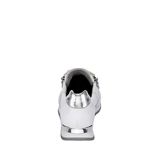 Da silber weiss 50 Comfort Bianco ring Ginnastica Basse Basic Donna Scarpe Gabor tqzZw
