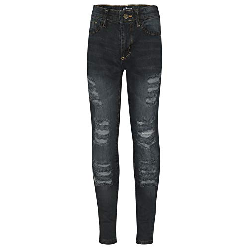 Kids Girls Skinny Jeans Denim Ripped Fashion Stretchy Pants Jeggings 3-13 Years