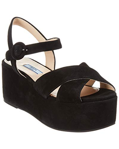 - Prada Suede Platform Sandal, 38, Black