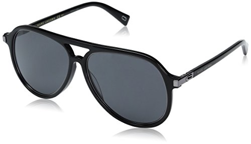 Marc-Jacobs-Mens-Marc174s-Aviator-Sunglasses-Black-RutheniumGray-Blue-58-mm