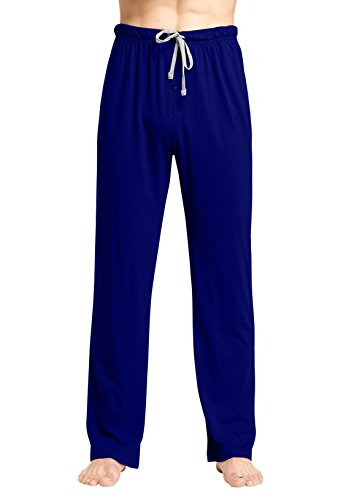 CYZ Cotton Knit Pajama Lounge Sleep Pants-Navy-XL - Cotton Knit Pjs