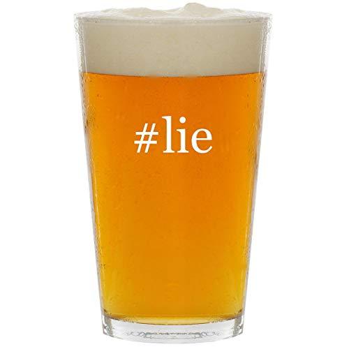#lie - Glass Hashtag 16oz Beer ()