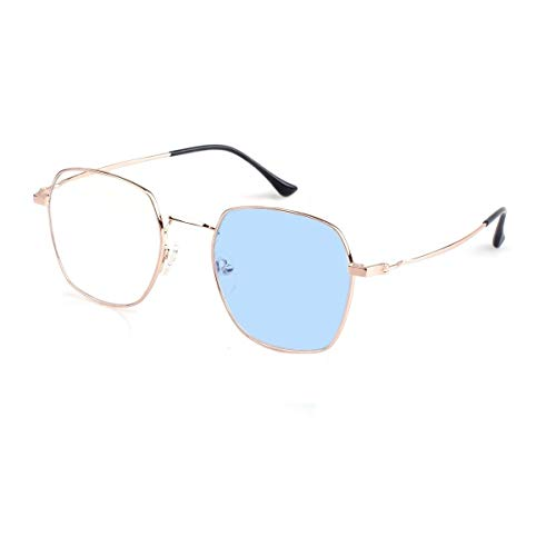 Women Photochromic Glasses Anti-UV Anti-Blue Light Mobile Phone Radiation No Degree Fashion Polygon Frame Sunglasses OM8007C01L