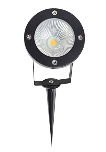 J.LUMI GBS9809 LED Outdoor Spotlight 9W, 120V AC, Replaces 75W Halogen, Metal Ground Stake, Daylight White, Outdoor Flag Light, Landscape Spotlight, UL-Listed Cord with Plug, Not Dimmable Outdoor Flag Lighting