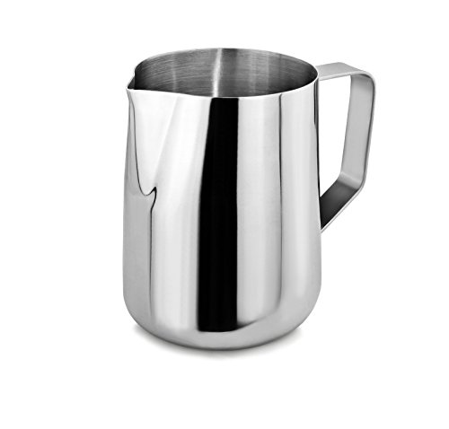 New Star Foodservice 28812 Commercial Grade Stainless Steel 18/8 Frothing Pitcher, 20 oz, ()