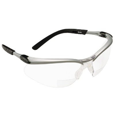 3M Reader's Safety Glasses,+1.5 Diopter, Clear Lens Bifocal lens
