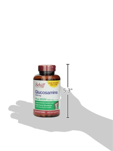 020525110190 - Schiff Glucosamine 1500mg Plus MSM 1500mg and Hyaluronic Acid, 150 tablets -  Joint Supplement carousel main 6