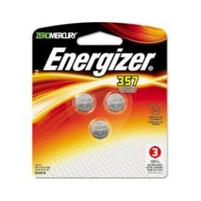 Energizer 357 SR44 Silver Oxide Watch Electronic Battery Bundle of 3