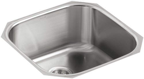 KOHLER K-3335-NA Undertone Extra Large Rounded Undercounter Kitchen Sink, Stainless Steel ()