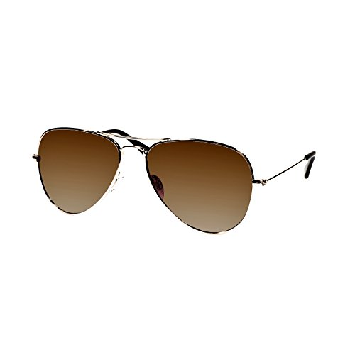 Polarized  Aviator Sunglasses with Hard Case and Micro Fiber Wipe - Sunglasses Luxury Case