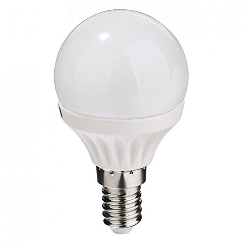 Bombilla LED esférica 5W E14 Luz blanca neutra 4000ºK 350Lm.: Amazon.es: Iluminación