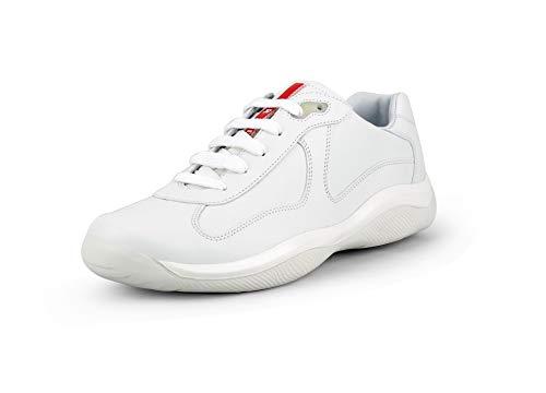 (Prada Men's 'America's Cup' Calf Leather Sneaker, White (9 US / 8 UK))