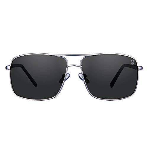 e2ff4fad96b59 Tom Martin UV–400 Protected Sunglasses – Barstow – Rectangular Aviator –  (Men–