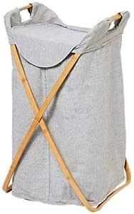 DORLIONA AME Bag Fancy Storage WO LID Clothes New Stylish Laundry Storage Wood Hamper with Frame Bag Fancy New Stylish Laundry Hamper