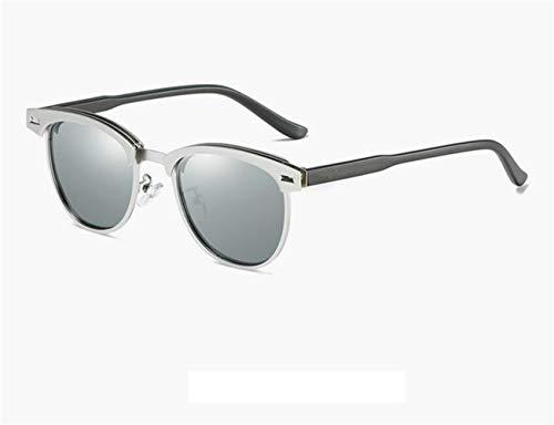 conducir para protectoras Silver gafas al para Hombres gafas Moda polarizadas Huyizhi de Mujeres Guay libre sol sol aire metal viajar UV400 de Marco de WTfnZFaqg