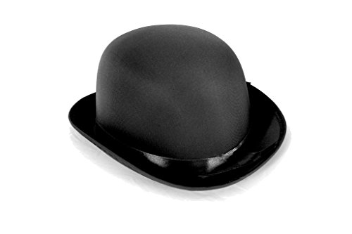 Dress Up Party Costume BOWLER Hat (Black) (Online Costume Stores)
