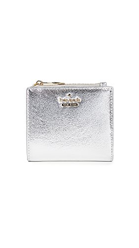 Kate Spade New York Women's Highland Drive Adalyn Wallet, Platino, One (Boutique Designer Wallet)