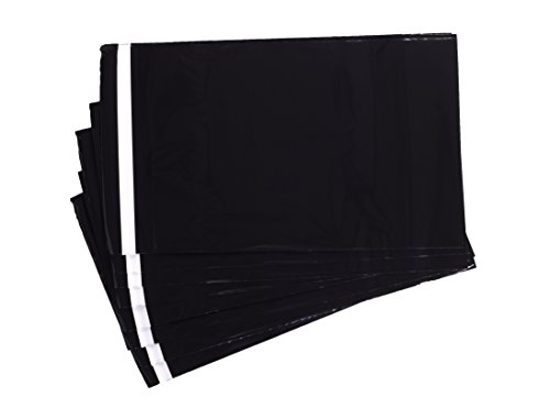 Black 3mil Poly Mailer Easy-tear Sealing 7x10 inch, 100 bags by TC Traders Co