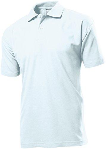 STEDMAN Herren Poloshirt Ohne Logo 100% Baumwolle - XXL, Weiß