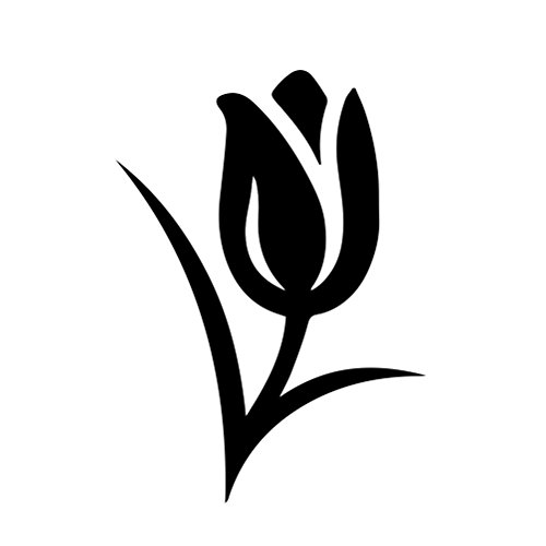 (Tulip Flower Silhouette Vinyl Sticker Car Decal (6
