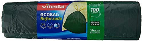 Vileda 120220 – vuilniszakken met extra sterke sluitband, 100 l, 10 stuks, 82 x 95 cm