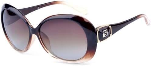 Outray Women's BA22 Oversized 55mm Polarized Sunglasses
