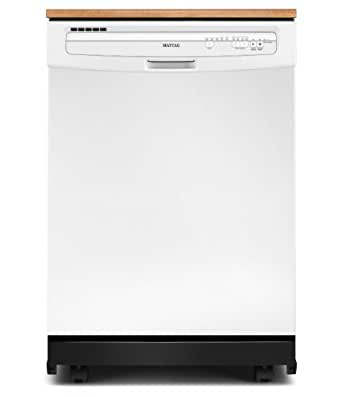 """Maytag MDC4809PAW JetClean Plus 24"""" White Portable Full Console Dishwasher - Energy Star"""