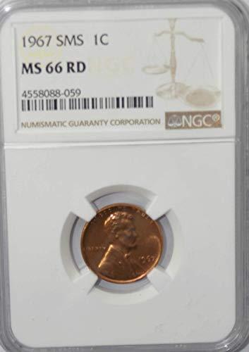 1967 P Lincoln Memorial Cent SMS Philadelphia AZH2 1c MS66 NGC RD