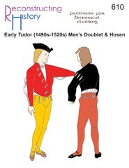 1490s to 1520s Men's Doublet and Hosen Pattern