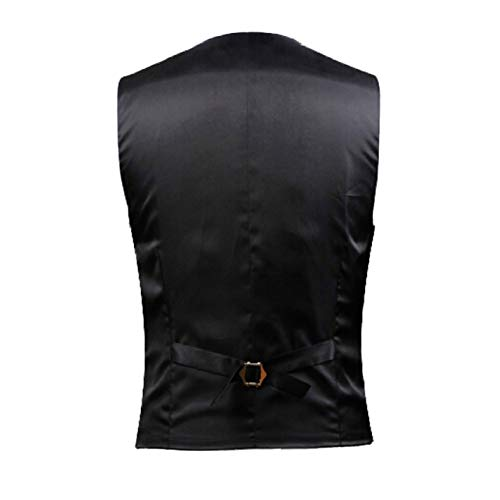 Nuziale Business Vintage Qscg Gilet Gentleman Uomo Gonna Black Casual Maniche Da Cerimonia Size Slim Senza Fit Large qn0nUBHCPx