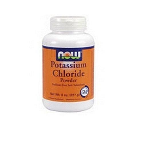 NOW Foods poudre de chlorure de potassium, 8 onces (Pack de 4)
