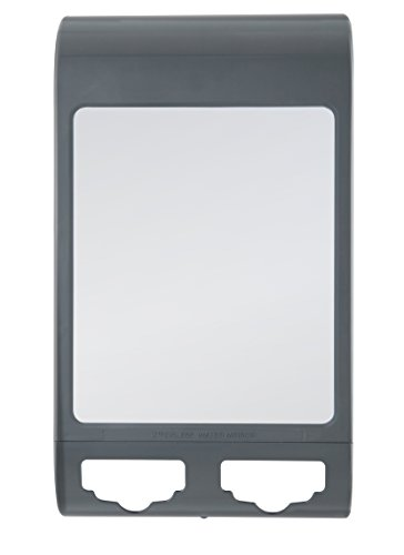 Zadro Fogless Shower Shaving Mirror (Zadro Fogless Water Mirror with Dual Accessory Holder, Midnight Gray)