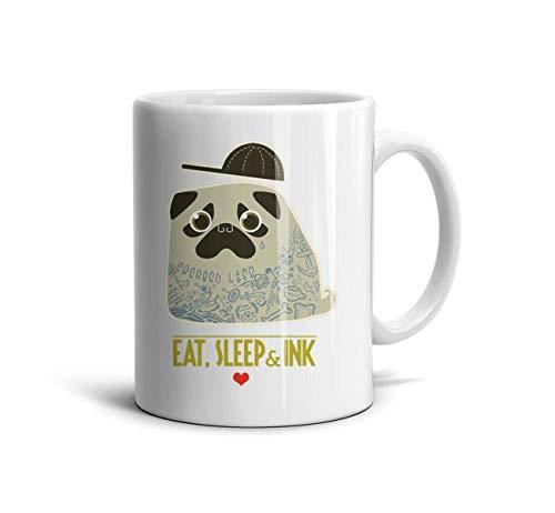 FSVDA Mugs 11Oz Happy-Pug-Fest-Cute- Use Drinks Cup