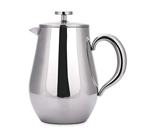 Cafetera olla de tetera olla filtro de presión de acero inoxidable ...