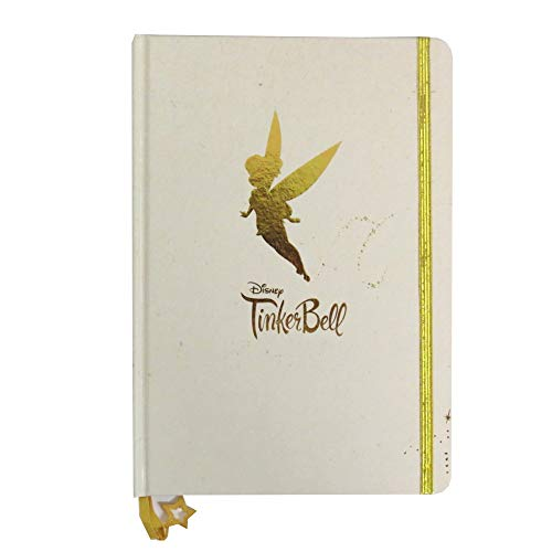 - Tinkerbell Gold A5 Notebook with Gold Strap and Charm, 160 Pages