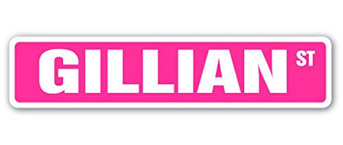 Cortan360 GILLIAN Street Sign Childrens Name Room Sign| Indoor/Outdoor | 8