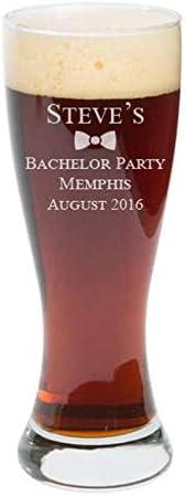 Vaso divertido para despedida de soltero, pilsners personalizados, vasos de cerveza grabados, vaso de cerveza personalizado, regalo de cerveza, regalo de cumpleaños, Navidad