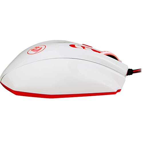 Redragon M901 PERDITION 16400 DPI Programmable Laser Gaming Mouse for PC, MMO, 18 Programmable Buttons, Weight Tuning Set, 12 Side Buttons, 5 programmable user profiles, Omron Micro Switches (White) by Redragon (Image #2)